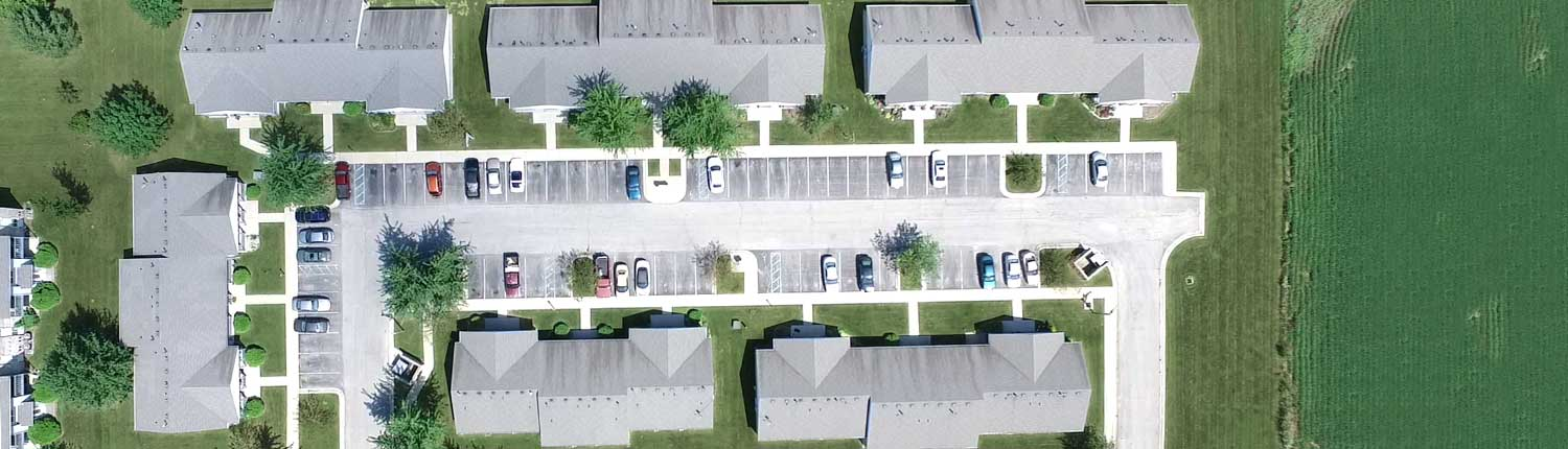 Frankfort Place overhead shot